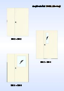 ประตูเหล็กสำหรับใช้ภายในทั่วไป เล็ก+ใหญ่ (DMSL)